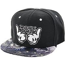 Alsino Cappellino Snapback di Colori e Motivi Diversi con Scritta Cappello  Hip Hop cap Basecap Baseballcap df0dc40e2246