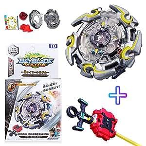 Urcara Bey Burst Gyro Battling Top B-82 Beyblade Burst Booster Alter Chronos.6M.T God Layer System Spinning Top with Launcher + Grip Set Top Battle Set Toys for Kids