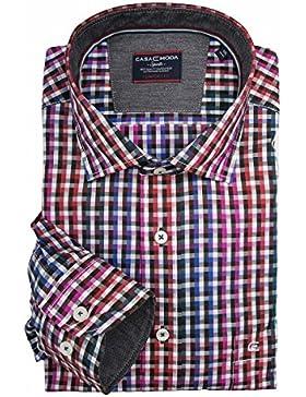 Camicia manica lunga rosa/rosso/blu CasaModa XXL
