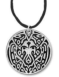 Pendentif tatouage tribal étain loup-garou 27 mm / 1 pièce