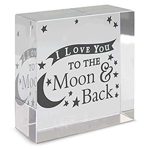 I LOVE YOU TO THE MOON AND BACK Medium Moon