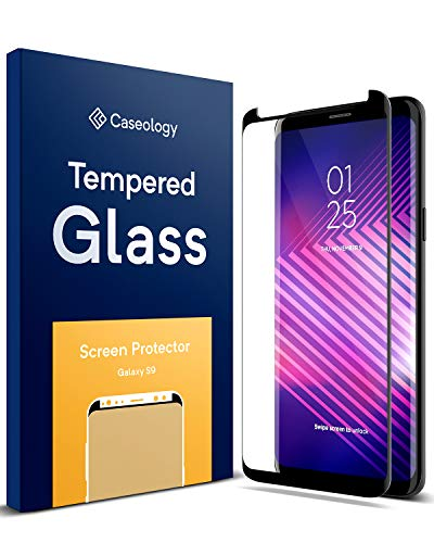 Caseology Galaxy S9 Screen Protector with Guide Frame [Tempered Glass] [Easy Installation] for Samsung Galaxy S9 (2018) - 1 Pack