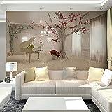 BHXINGMU Individuelle Fototapeten Bäume Und Klaviere Hotel-Tapeten Große Wanddekorationen 50Cm(H)×90Cm(W)