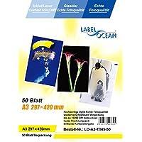 50hojas A3over Head proyector de película OHP, compatible con impresoras láser Jet, Jet, de tinta y copiadora, negro/blanco y color. Por LabelOcean