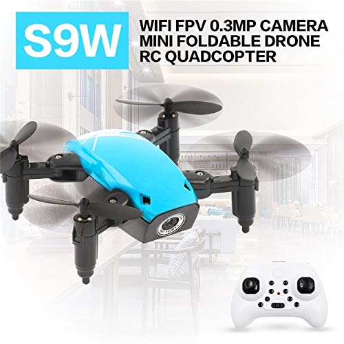 Lorenlli S9W WiFi FPV 0.3MP Cámara Mini Drone Plegable Atitude Modo de Espera Tecla de Retorno 360 Grados Flip RC Quadcopter RTF