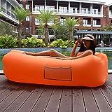 Xingqianru Outdoor Hochwertige Aufblasbare Liege Strand Stuhl Bettwäsche Schlafsack Seite Faul Schlafsack (2600 * 700Mm),Orange