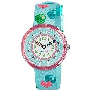 FlikFlak Mädchen Analog Quarz Uhr mit Stoff Armband FBNP082