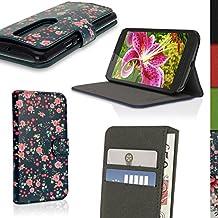 igadgitz u4183funda cartera PU Piel para Motorola Moto G 3° generación 2015XT1540carcasa con protector–rosa