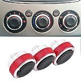 Boomboost Aluminiumlegierung Auto Klimaanlage Switch Knopf Schaltknopf betätigen Rot