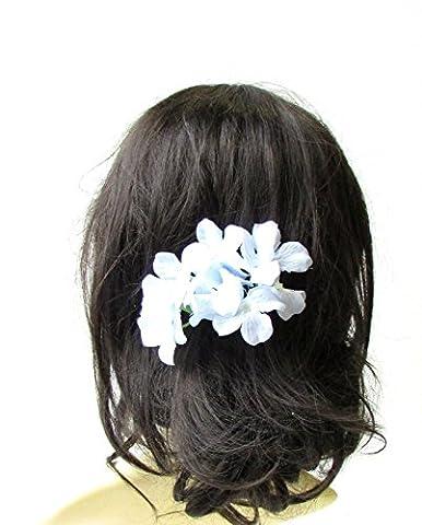 Grande lumière bleu pâle Hortensia Fleur Épingle à cheveux Demoiselle