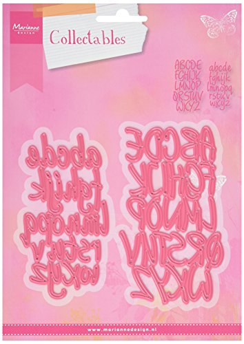 Marianne Design Ecstasy Crafts Collectables Stanz-Alphabet, Metal, pink, 20.2 x 15.2 x 0.2 cm - 6-zoll-craft Buchstaben