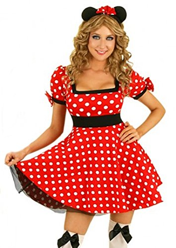 Mickey Gr. S 34 Maus Mouse Costume (Minnie Mouse Kostüm Rot)