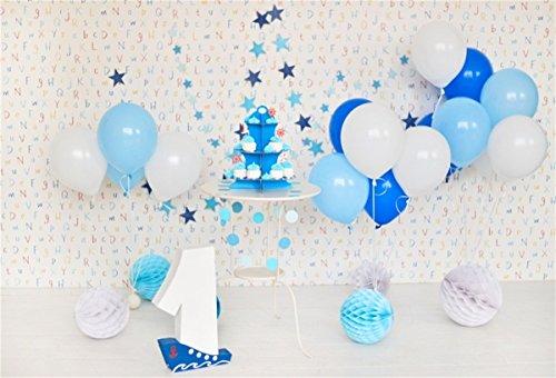 nyl Foto Hintergrund 1 Geburtstag Schöne Dekorationen Ballon Fotografie Hintergrund für Babyfotos Photo Booth Baby Party Banner Kinder Fotostudio ()