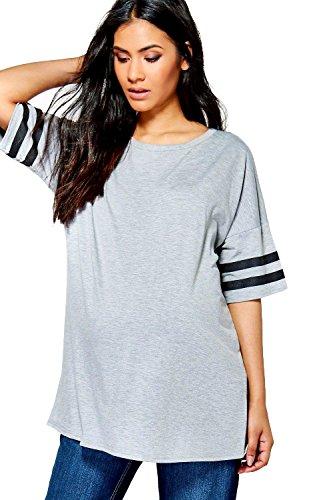 gris Femmes Olivia T-shirt De Baseball De Grossesse Surdimensionné Gris
