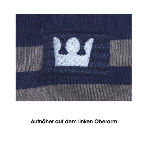 Kitaro, langarm Polohemd Poloshirt, 125234, navy jute weiss [13843] Navy