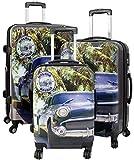 Kofferset Gepäckset Polycarbonat ABS Hartschalen Koffer 3tlg. Set Trolley Reisekoffer Reisetrolley Handgepäck Boardcase PM (Cuba)