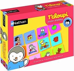 Nathan - 31001 - Jeu de société - Jeu éducatif - Mémo T'choupi