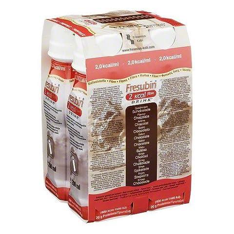 Fresenius Kabi Fresubin 2 kcal fibre Drink Schokolade Trinkflasche, 4 x 200 ml, 1er Pack (1 x 2,75