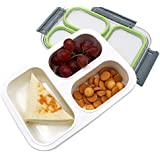 Meenamart BN22 Leakproof 2 Compartment Lunch (Transperent)