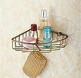 BATHAE Fissato al muro d'ottone antico bagno sapone Holder carrello Doccia Shampoo Mensola Bagno Doccia Mensola d'angolo Mensola costruzione Materia