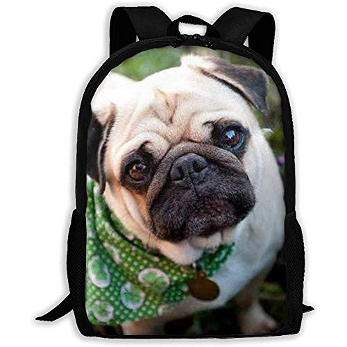Perro con una Bufanda Verde Estampado para Adultos Mochila Mochila de Viaje Bolsas de Negocios Laptop...