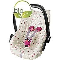 ByBoom® - Sommerbezug, Schonbezug für Babyschale aus 100% BIO-Baumwolle mit Motiv, Universal für z.B. Maxi-Cosi, CabrioFix, Pebble, City SPS
