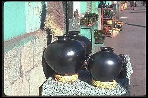 090054 Black Pottery Oaxaca Mexico A4 Photo Poster Print