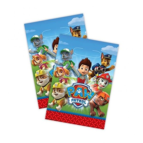 Amscan 999137 Paw Patrol Plastic Party Bags