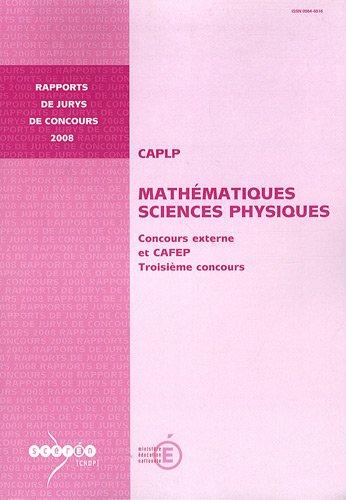 CAPLP Mathématiques Sciences Physiques : Concours externe et CAFEP, Troisième concours