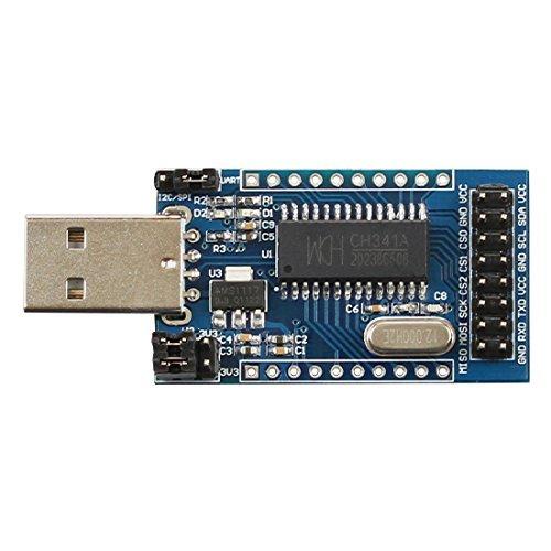 DollaTek CH341A USB zu UART/IIC / SPI/TTL / ISP Adapter EPP/MEM Parallelwandler (Adapter Usb-uart)