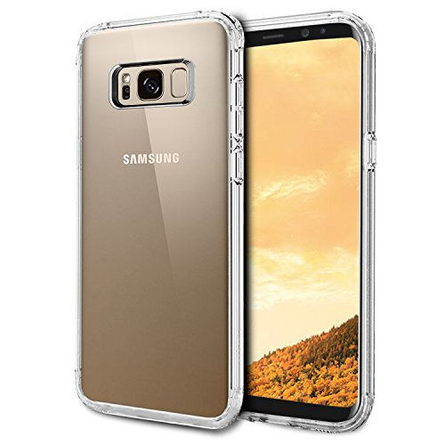 Funda Samsung Galaxy S8, Ubegood S8 Carcasa Funda protectora Transparente Carcasa Case Bumper Delgado Flexible TPU Funda Slim Silicona Case Cover para samsung galaxy S8 - Transparente