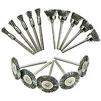 UKCOCO 15pcs Wire Wheel Brush Set Accesorios abrasivos de pulido para herramientas rotativas Dremel