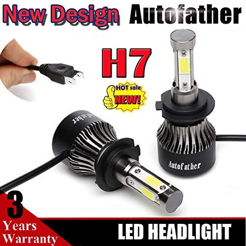 H7 Lampadine LED a bulbo 20000LM, per fari auto, 1coppia, 20.000 lumen, 6000K, colore bianco puro, super luminose, abbaglianti/anabbaglianti/fendinebbia/luci da guida, 2 pz