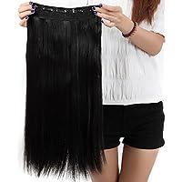 S-noilite® Extensión de cabello liso de Una pieza mitad cabeza llena 58 cm