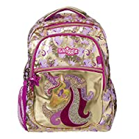 Smiggle Gold Kids School Backpack for Boys and Girls with Laptop Compartment
