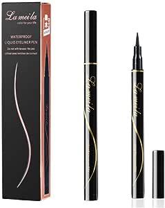jieGorge★ Women Black Eyeliner Eye liner Fine Head Smooth Waterproof Eyeline Eyeline Makeup Tool Long-Lasing Buy Now