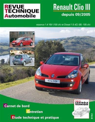 Revue Technique – CIP B702.6 – Renault Clio III, phase 1 de 09/05 a 03/08
