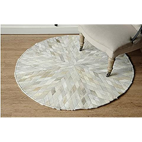 ZiXuan Moquette / Soggiorno Foyer da letto Studio Comodino Coperta / circolare cucitura tappeto ( colore : 2# , dimensioni : Diameter 100cm )