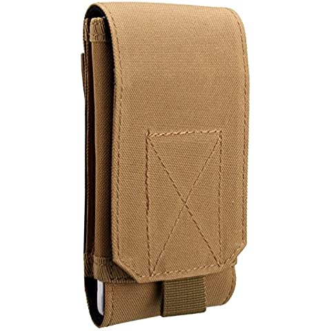 Mamaison007 Universal al aire libre táctico funda militar cintura cinturón bolsa cartera bolsa monedero teléfono para el iPhone -6