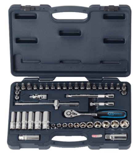 KS TOOLS 918 0846 - CHROME + SOCKET SET  46PCS  3/8