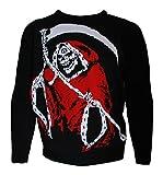 Alchemy Santa Reaper Festive Skull Christmas Jumper