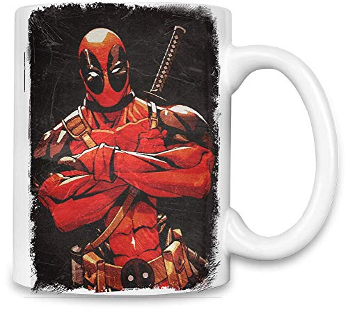 Deadpool Wade Wilson Masque Wade Wilson Mask Unique Coffee Mug | 11Oz Ceramic Cup| The Best Way to Surprise Everyone on Your Special Day| Custom Mugs by