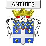 Antibes 06 ville Stickers blason autocollant adhésif Taille : 8 cm