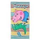 Toalla playa Peppa Pig George 140x70cm
