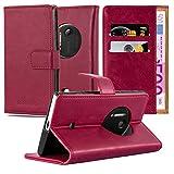 Cadorabo Custodia Libro per Nokia Lumia 1020 in Rosso Vinaccia – con Vani di Carte, Funzione Stand e Chiusura Magnetica – Portafoglio Cover Case Wallet Book Etui Protezione