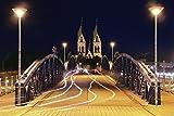 Artland Qualitätsbilder I Poster Kunstdruck Bilder 90 x 60 cm Städte Deutschland Freiburg Foto Bunt B9NQ Wiwilibrücke Freiburg
