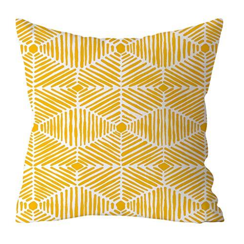 Funda de Cojín 45x45cm amarilla para decorar