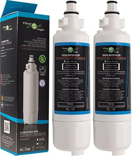 2x FilterLogic FFL-170P Wasserfilter ersetzen Panasonic CNRAH-257760 und CNRBH-125950 Kühlschrankfilter