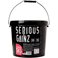 The Bulk Protein Company Serious Gainz Mass Gainer Powder, Strawberry, 5 kg