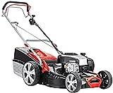 AL-KO Benzin-Rasenmäher Classic 5.16 VS-B Plus, 51 cm Schnittbreite, 2.4 kW Motorleistung, für Rasenflächen bis 1.800 m², Schnitthöhe 7-fach verstellbar, inkl. Mulchkeil und Seitenauswurf, mit Radantrieb, inkl. 65 l Fangkorb mit Füllstandsanzeige